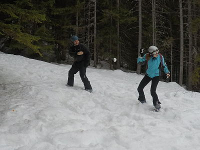 Pelea de nieve en Bansko